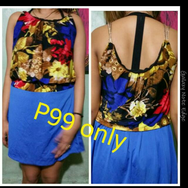 REPRICED Simply floral blue Dress