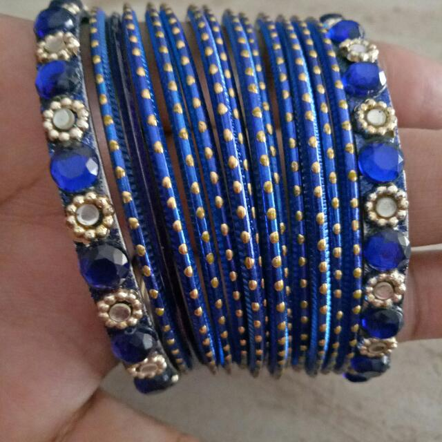 Royal Blue Indian Vintage Bangle Set