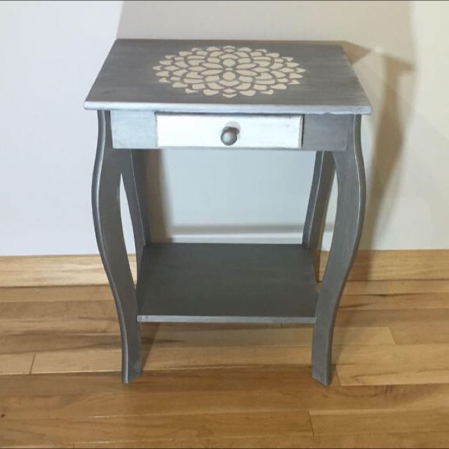 Shabby chic Metallic Accent Table