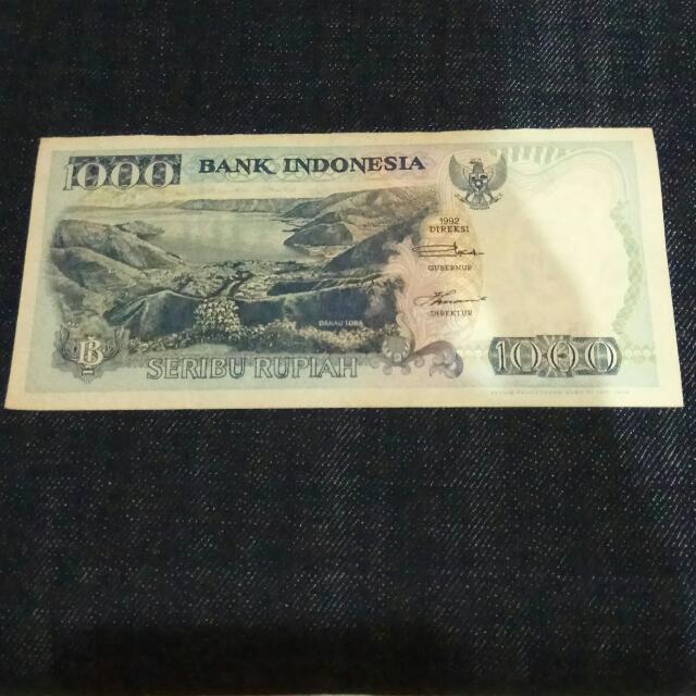 Uang Jadul Rp.1000 Thn 1992.