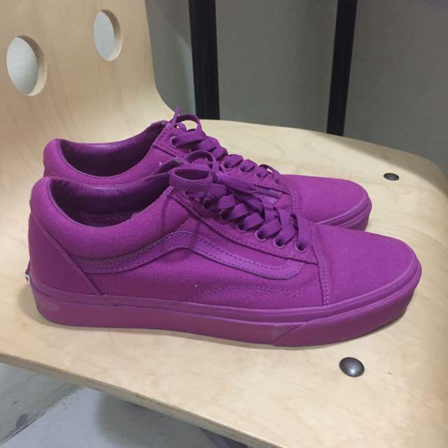 vans old skool mono purple