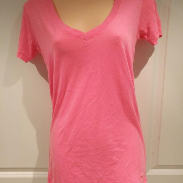 Vs Pink V Neck T-shirt, XS