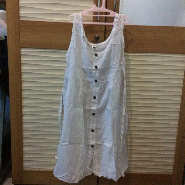 WHITE BALI DRESS