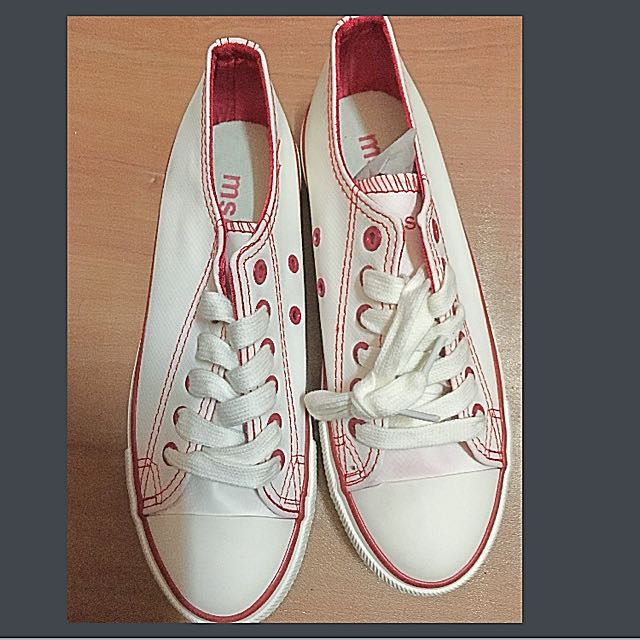 White MSE Converse Style Shoes