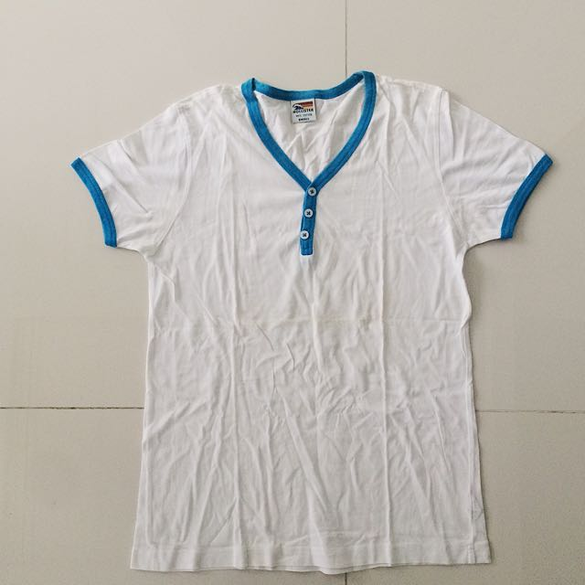White Top With Blue Lining