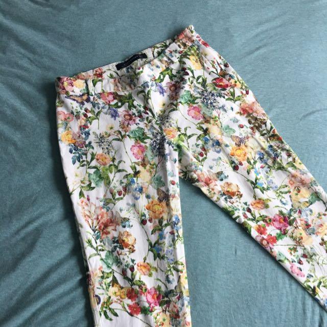 [ZARA WOMAN] Floral Pants