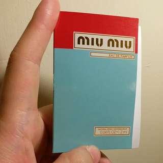 Miu Miu 香水sample