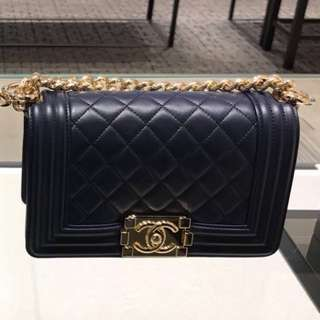 ✨NEW✨2017 Le Boy Chanel Navy 20 Handbag