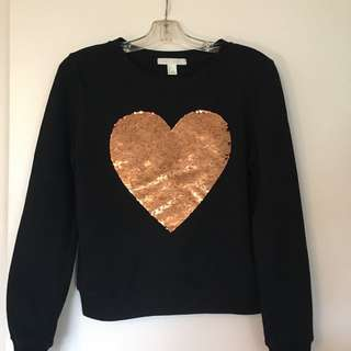 Forever 21 Black And Gold Sweater