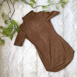 Suede Tan Dress