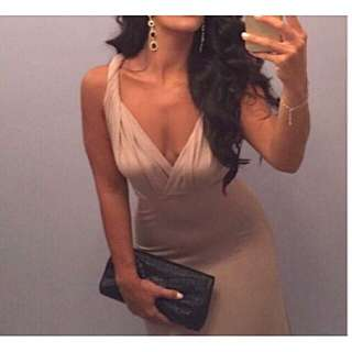 Beige/Nude Evening Dress