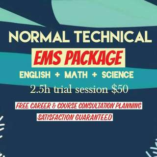 English Math Science Tuition EMS PACKAGE - Normal Technical N(T)