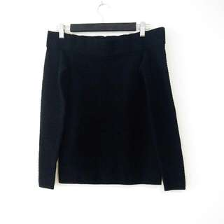 Club Monaco Black Bardot Sweater XS
