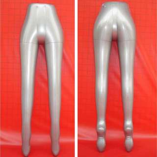 Brand New Silver Inflatable Female Lower Body Mannequin