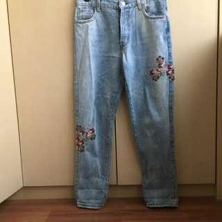 刺繡牛仔褲27腰