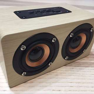W5 Bluetooth Speaker Support Micro SD/AUX Playback 奇聯 W5 原木藍牙喇叭 支援Micro SD Card/AUX 播放