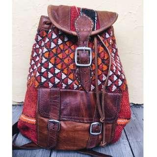 Vintage Turkish Kilim Backpack