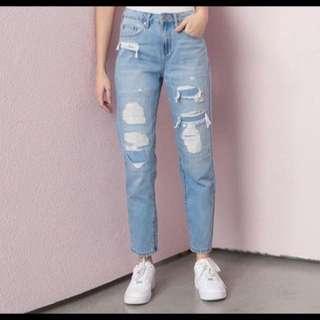 Indigo Vibes Mom Jeans
