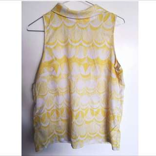 Vintage White And Yellow Shirt