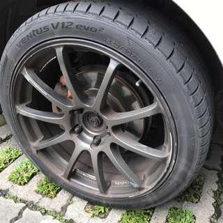 "Hankook V12 18"" Tyres 225/40/18"