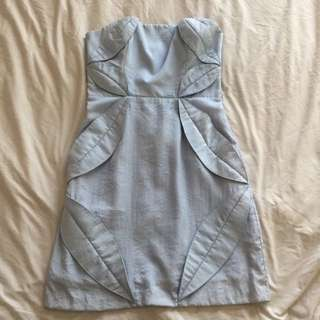 Blessed Are The Meek Strapless Dress Size 8