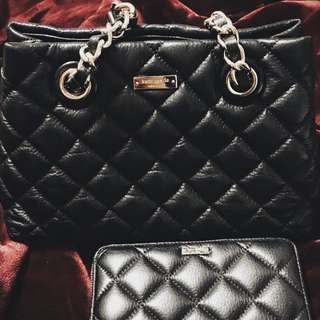 Kate Spade Quilted Bag With Matching Wallet