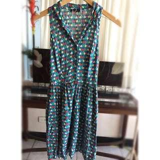 July Green Printed Dress