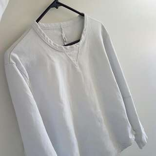 Commoners, White Crew Neck Jumper