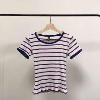 H&M 條紋針織上衣