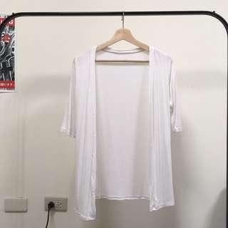 白 針織 外套