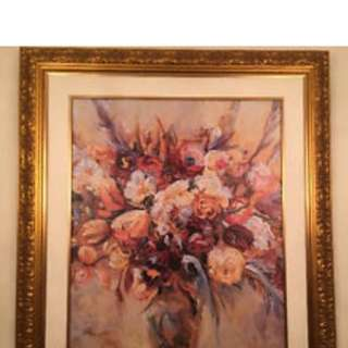 Gold Frame Flower Arrangement