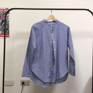 藍 格子 襯衫