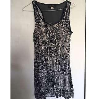 Summer Dress Black And White