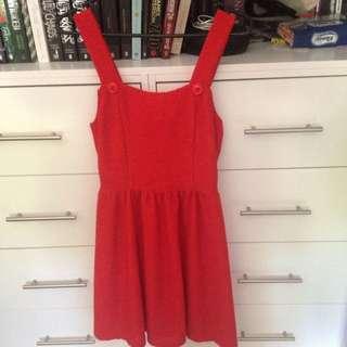 Cut Red Dress