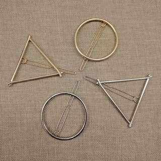 三角/圓形頭飾髮夾