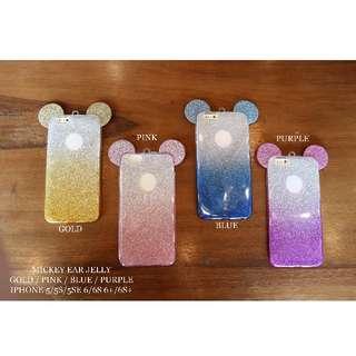 Mickey ear Jelly case untuk iphone 5 / 5s / 5se / 6 / 6s / 6plus / 6splus