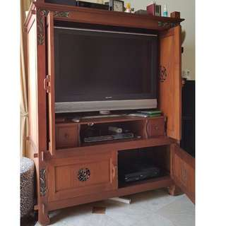 Balinese TV/Display cabinet