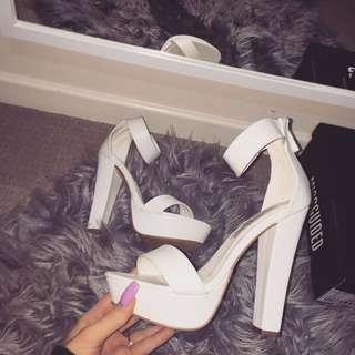 White Heels Brand New