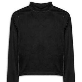 Black Velvet Turtleneck Top