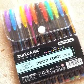 Zuixua NEON glittery Gel Pens
