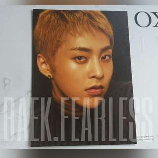 EXO Xiumin official For Life postcard [WTS/WTT]