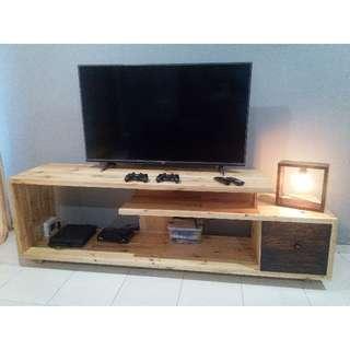 rak tv kayu unik bisa custom