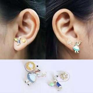 02755Fr  Fantasy Alice In Wonderland Earrings As Photo