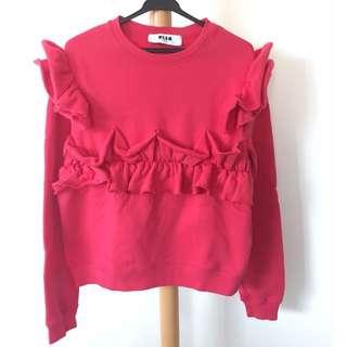 🈹全真品💯 MSGM 紅色女裝衛衣