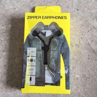 Zipper Earphone With Microphone