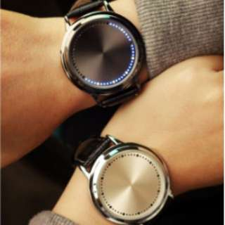 Blue Hybrid Touch Screen LED Watch