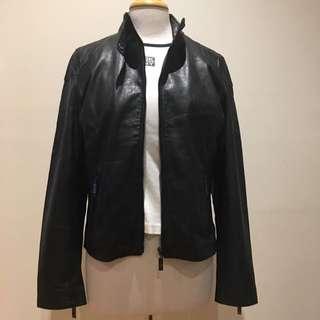 Bemporad Black Leather Bikers Jacket
