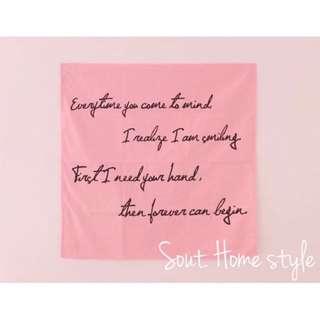 歐美ig粉紅背景布 /裝飾房間/拍照道具