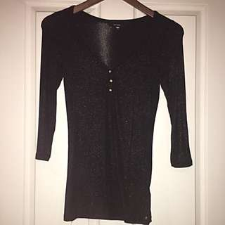 Guess 3/4 Sleeve Top Size S