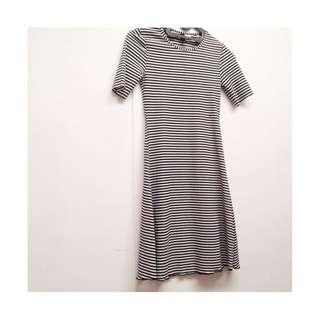 H&M dress stripe